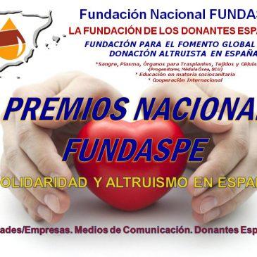 VII PREMIOS NACIONALES FUNDASPE 2019